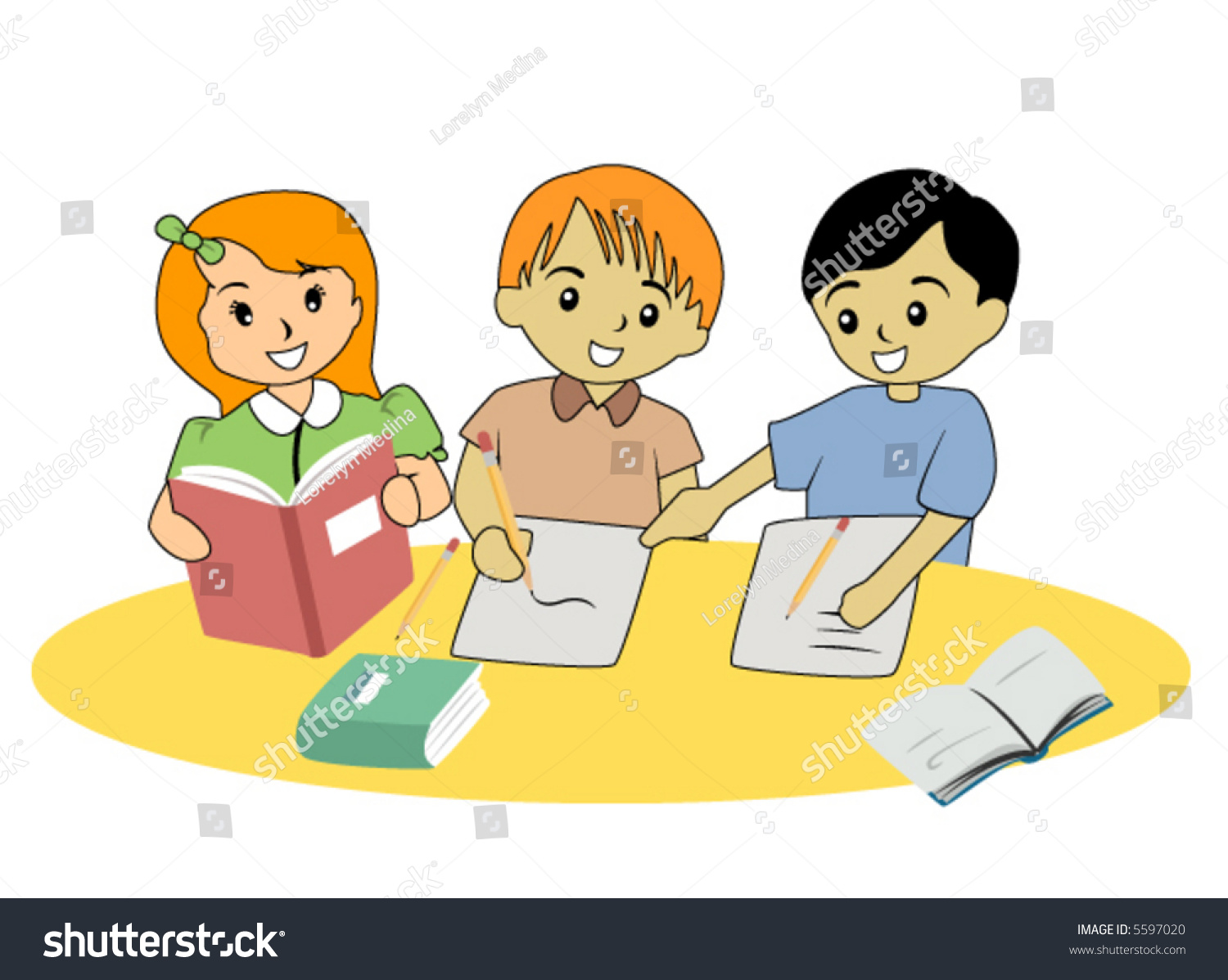 Group Study Vector Stock Vector 5597020 - Shutterstock