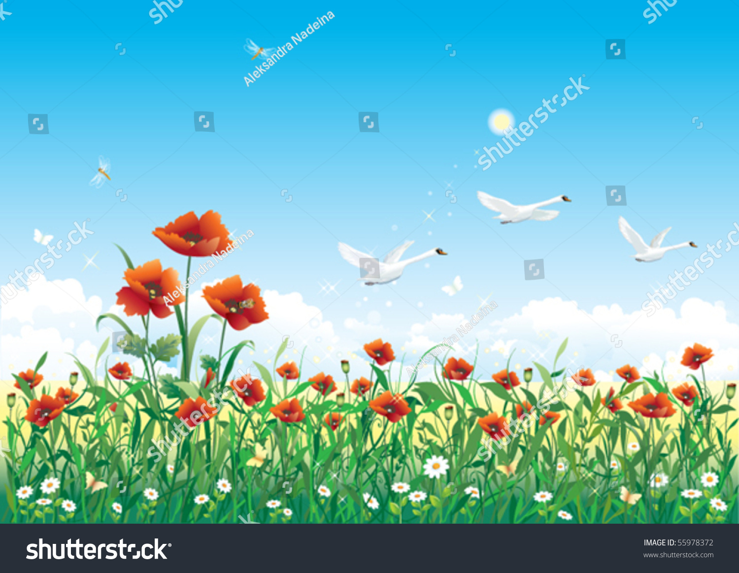 Field Of Flowers Clip Art Cliparts