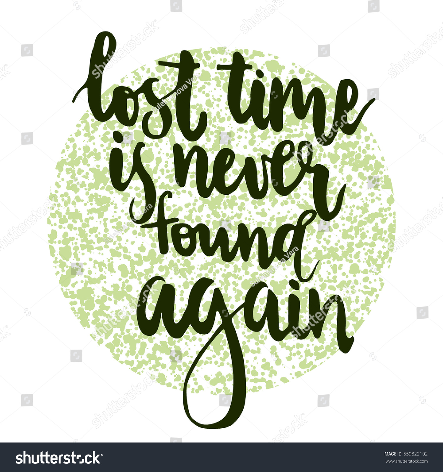 lettering lost time never found again のベクター画像素材
