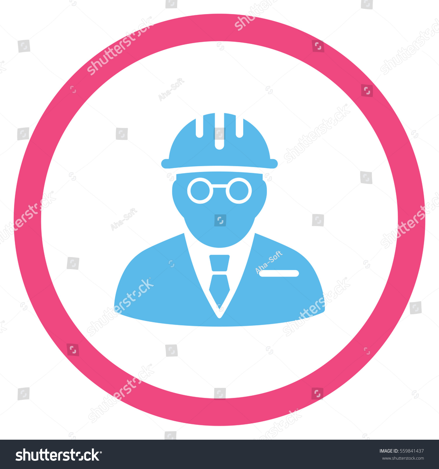 Blind Engineer Vector Bicolor Rounded Icon Stock Vector ...