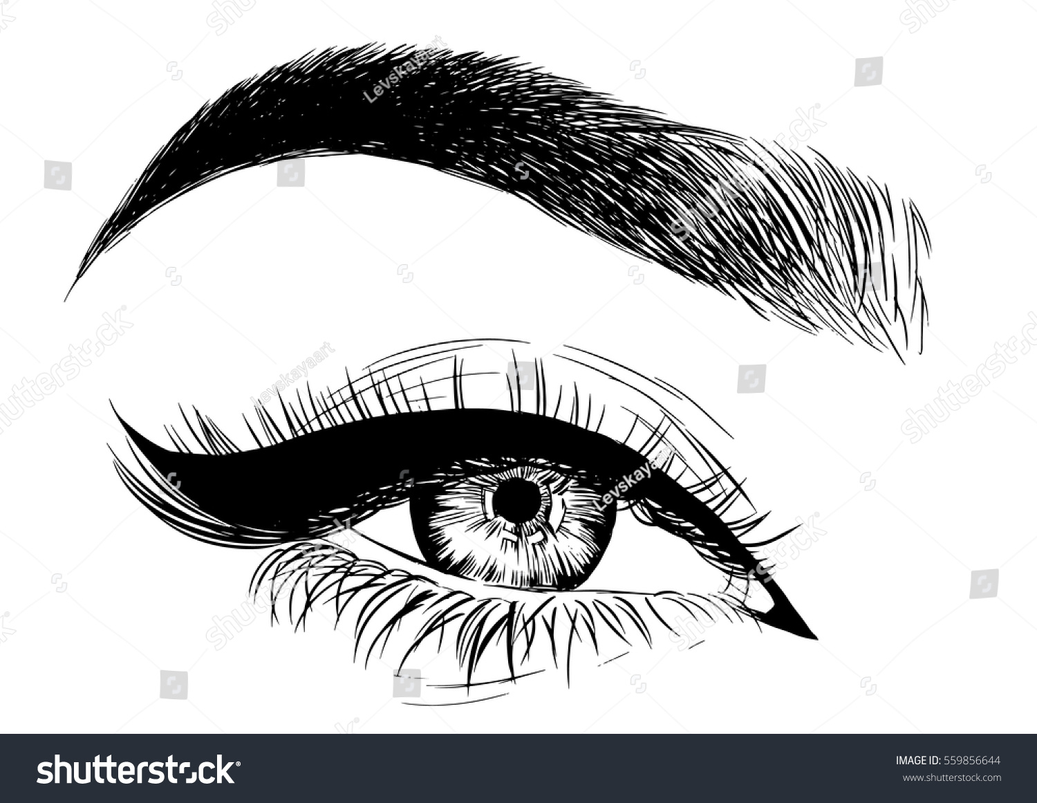 Eye Makeup Stock Vector Royalty Free 559856644 Shutterstock
