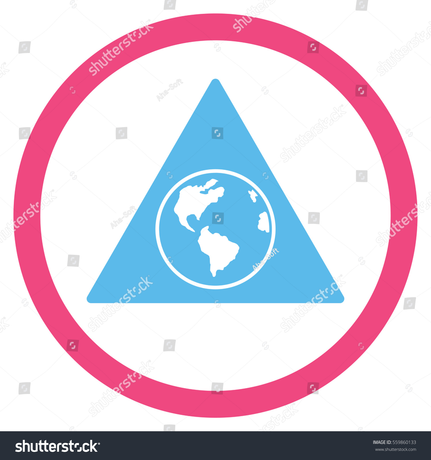 Terra triangle vector bicolor rounded icon stock vector 559860133 terra triangle vector bicolor rounded icon image style is a flat icon symbol inside a buycottarizona Image collections
