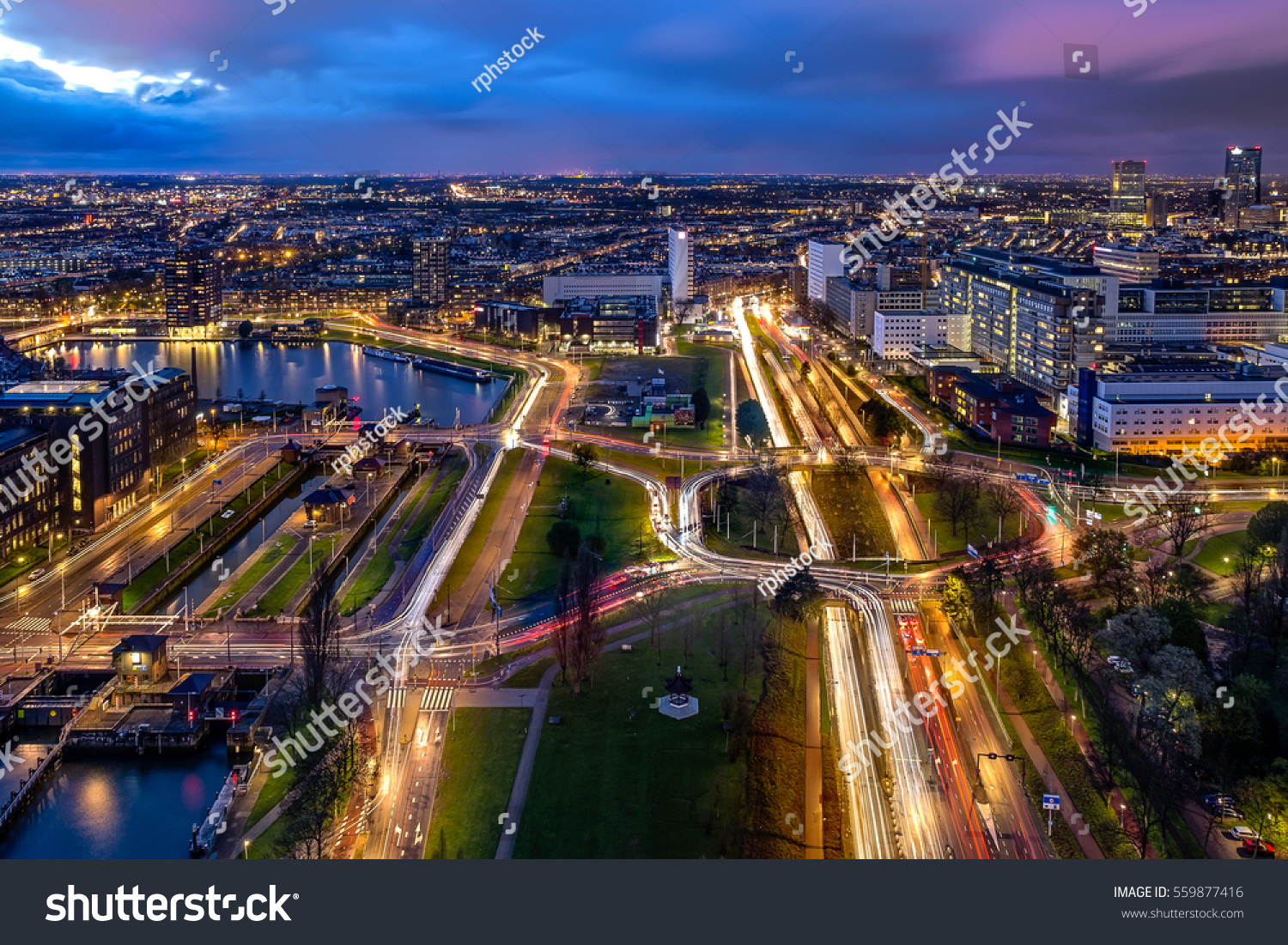 Rotterdam City Netherlands Located South Holland Stock Photo - Where is the netherlands located