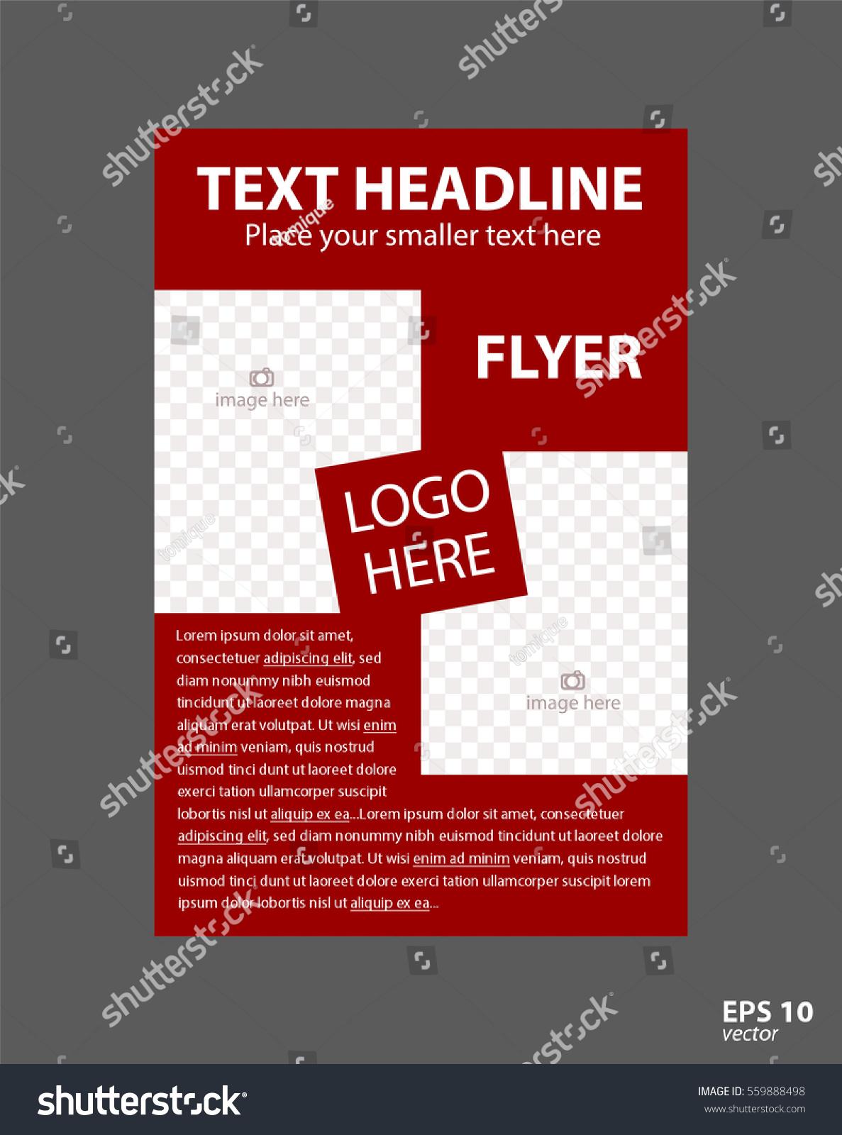 Flyer Concept Brochure Template Business Education Stock Vector