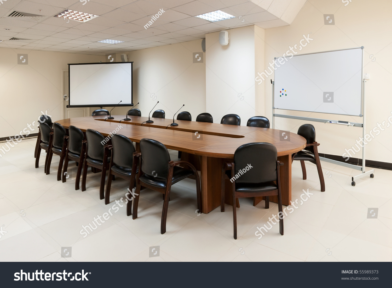 Big Round Table For Conference, Meeting Or Seminar