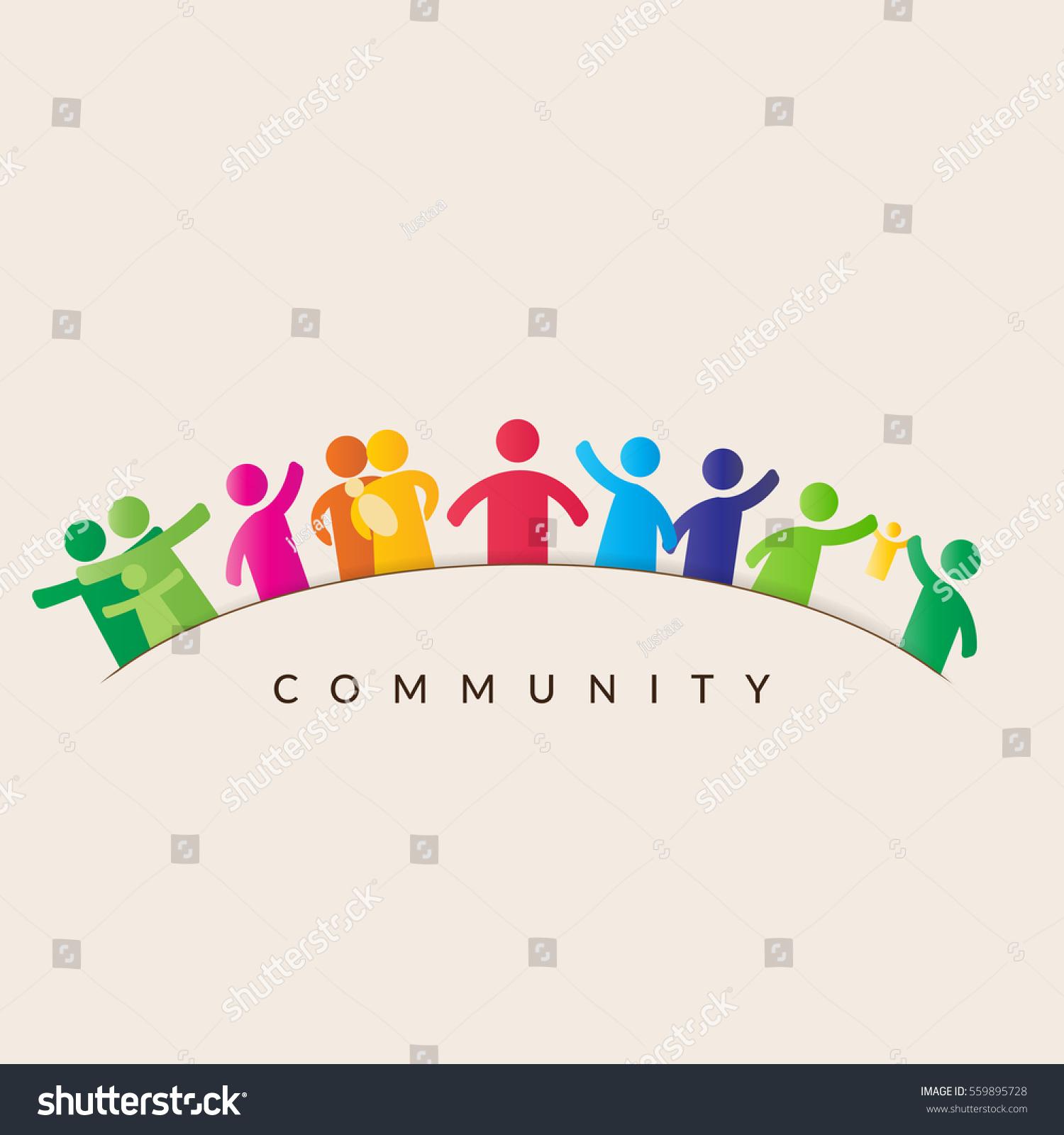Community Concept Pictogram Showing Figures Happy Stock ...