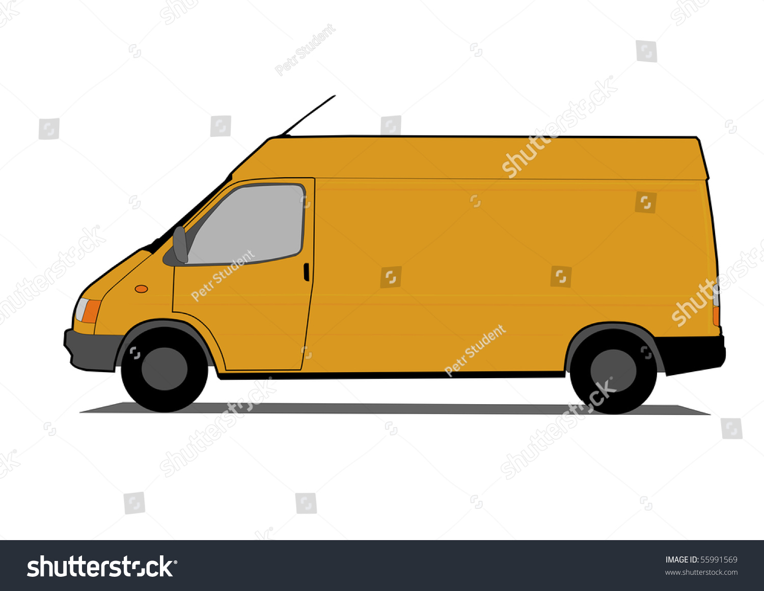 Delivery Van Stock Vector Illustration 55991569 : Shutterstock