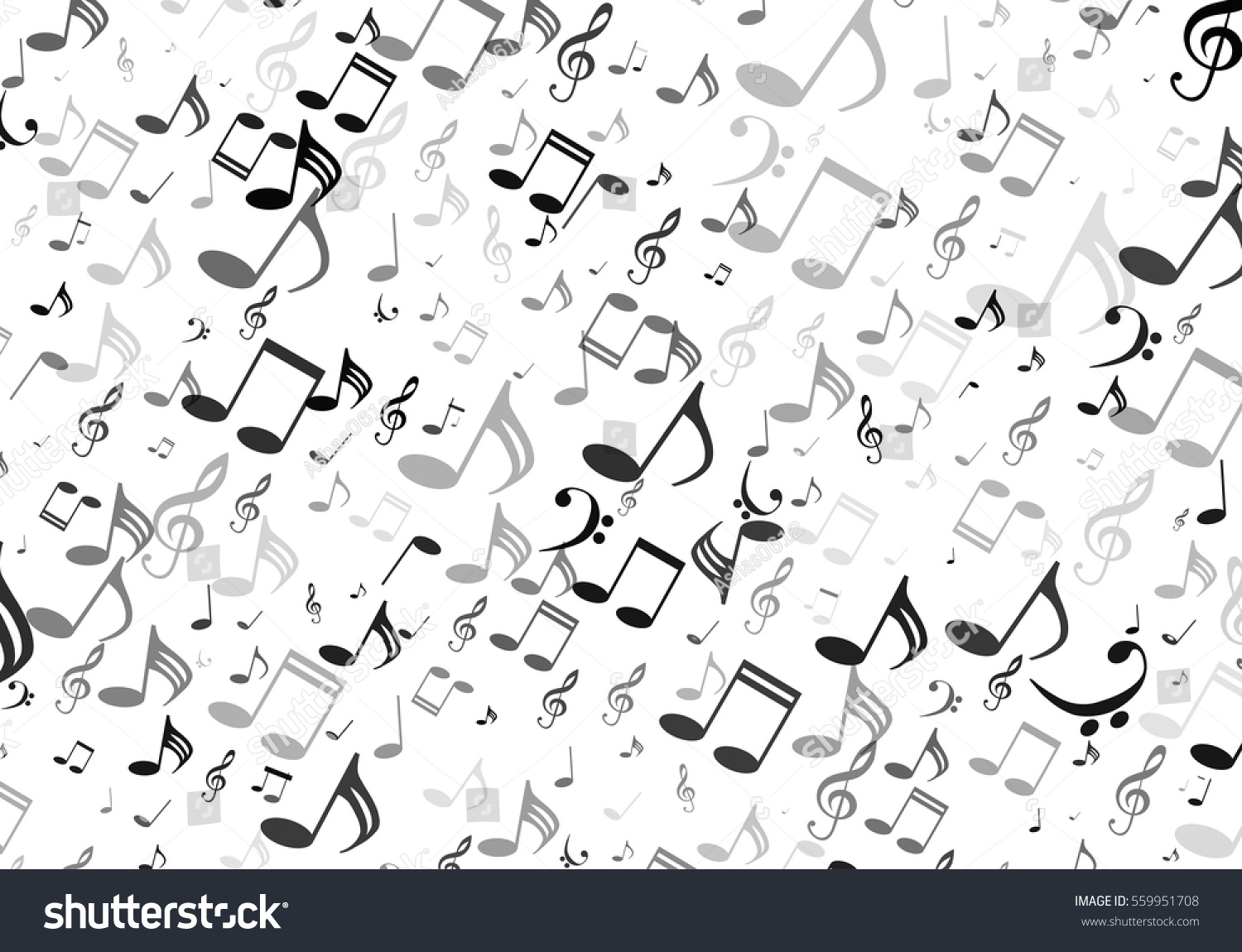 Musical symbols music notes treble clef stock vector 559951708 musical symbols music notes treble clef white and black background biocorpaavc Images