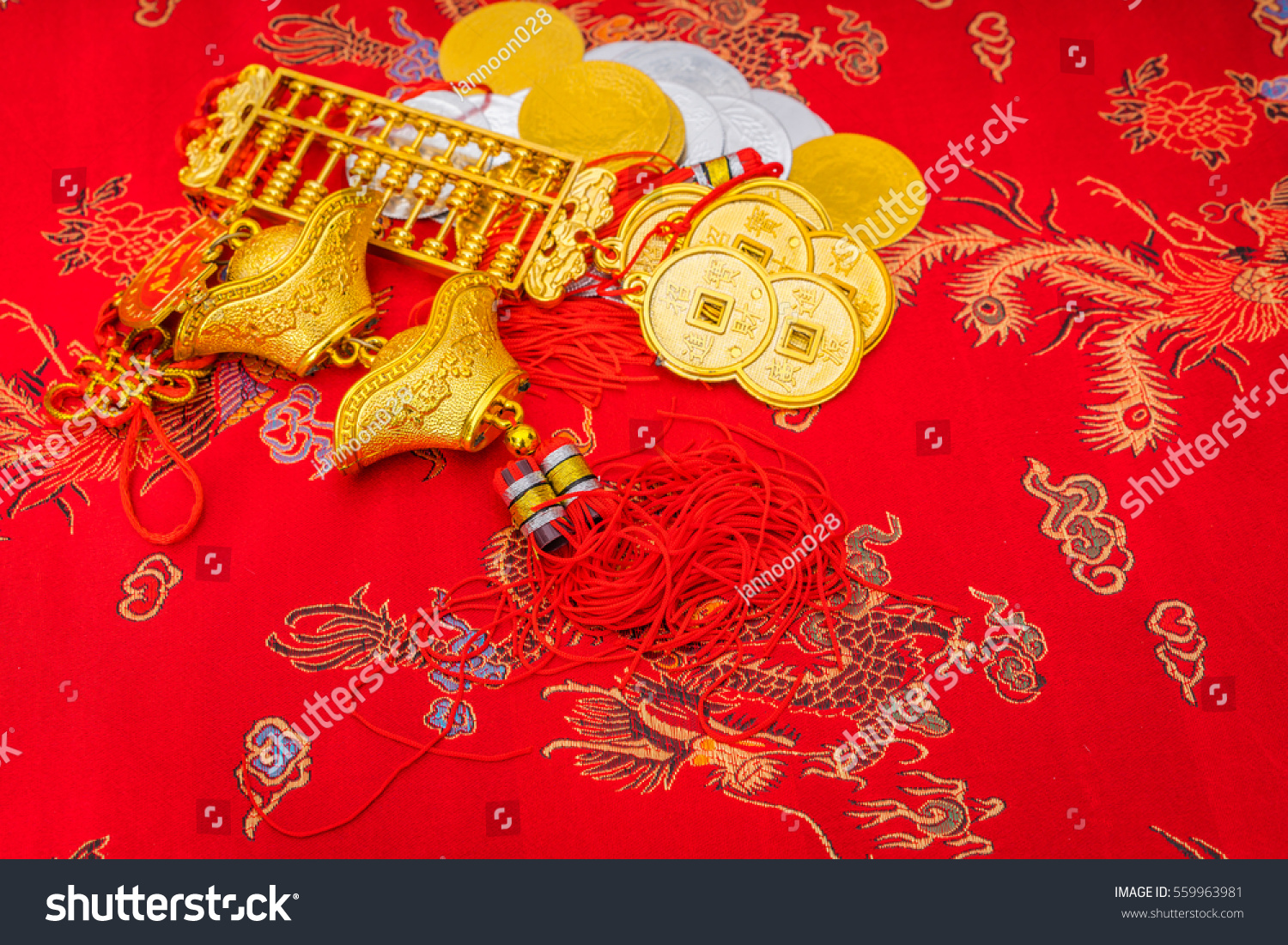 chinese new year decoration on red stock photo 559963981 shutterstock. Black Bedroom Furniture Sets. Home Design Ideas