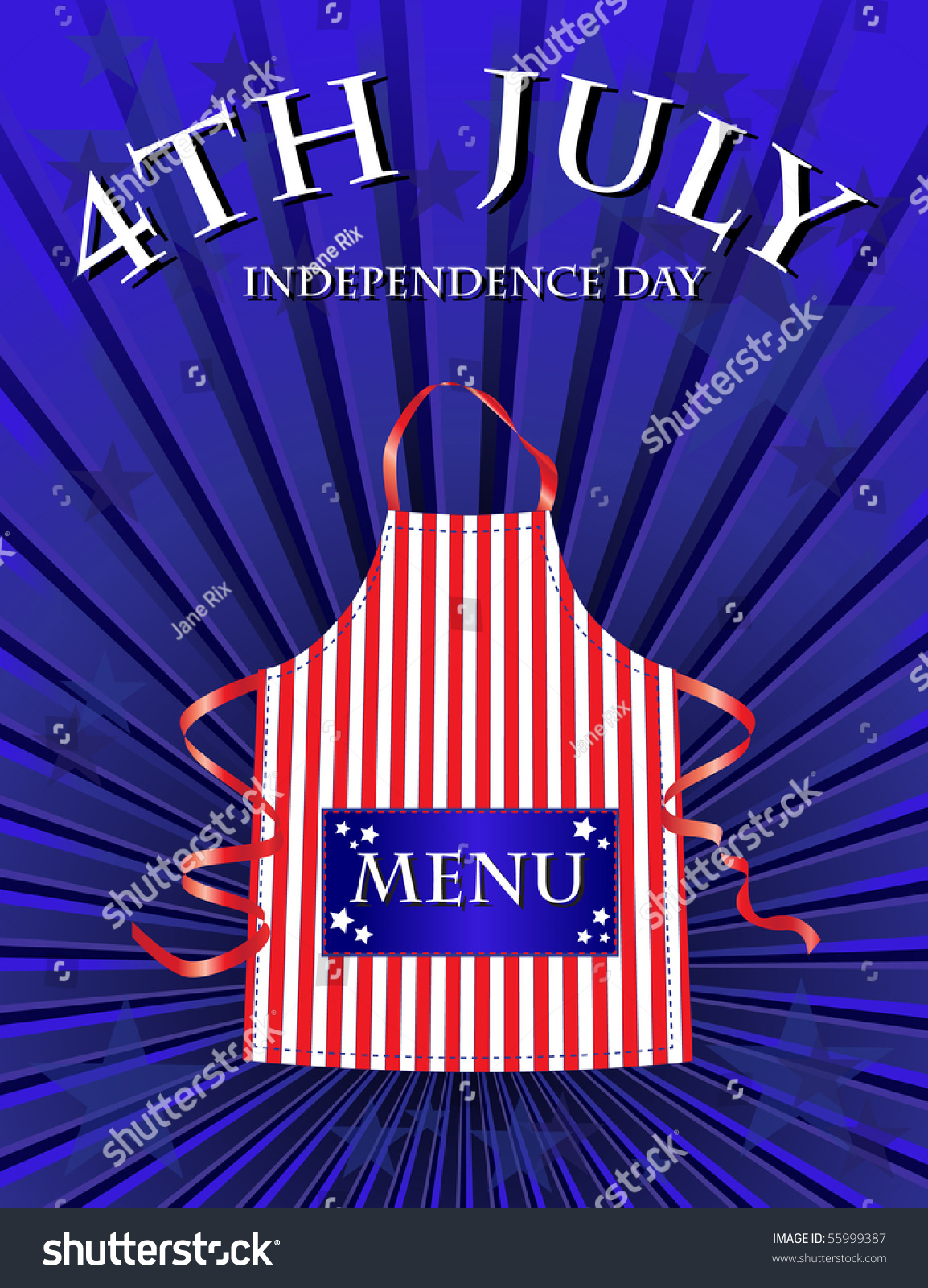 A 4th july independence day menu template stock photo for 4th of july menu template