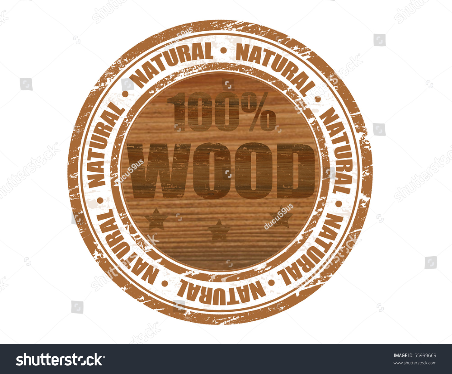Abstract Brown Grunge Office Rubber Stamp Stock Vector ...