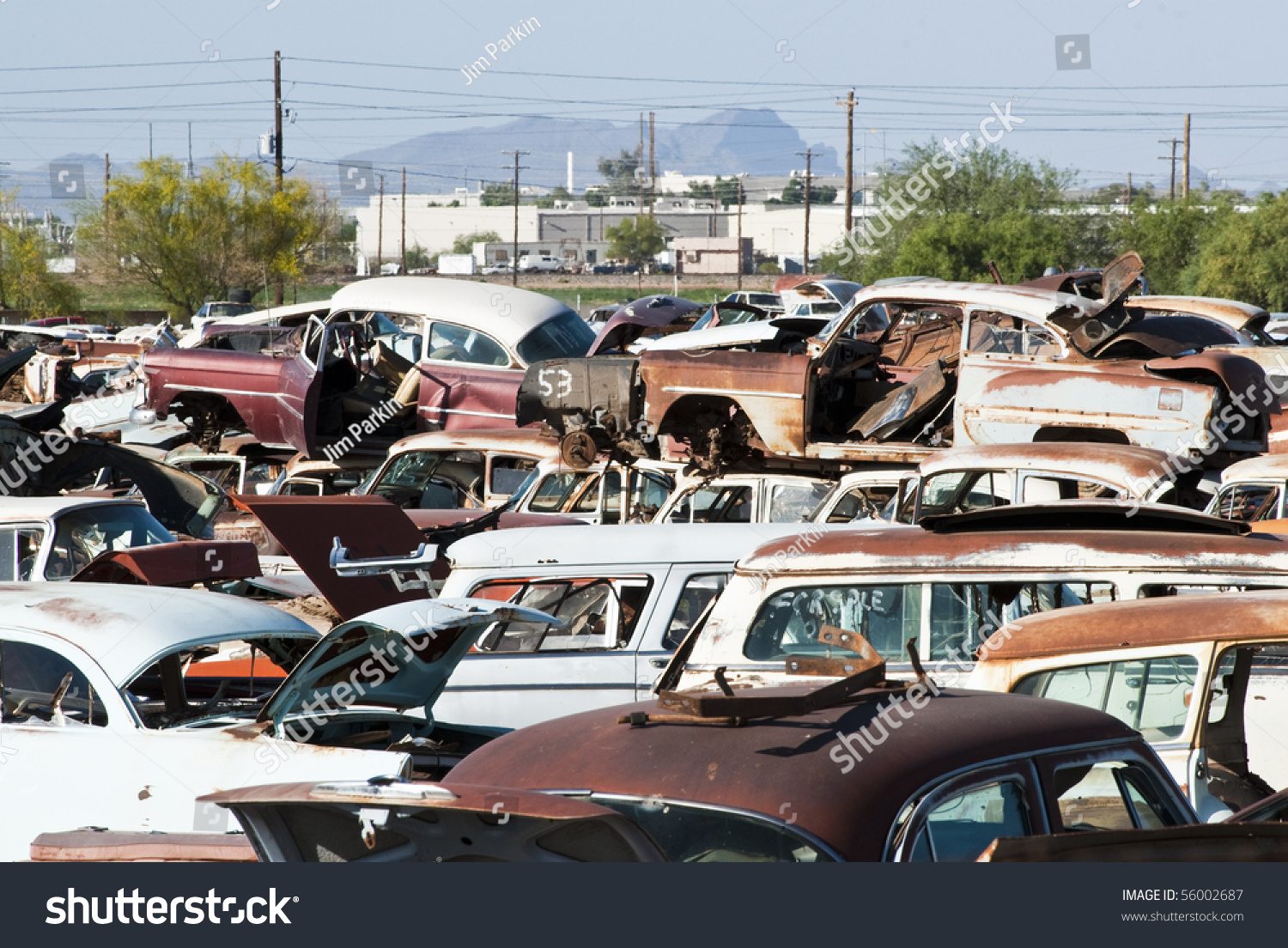 Old Vehicles Auto Salvage Yard Being Stock Photo (Royalty Free ...