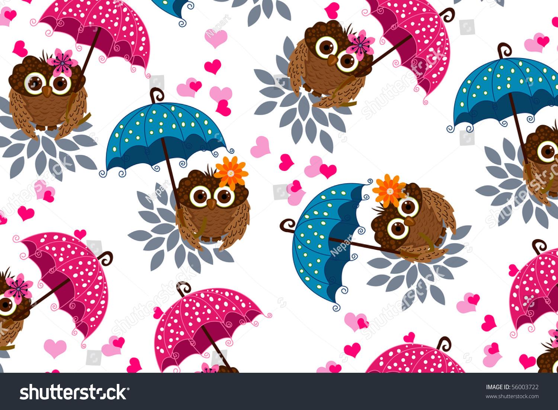 Owl Umbrella Stock Vector 56003722 - Shutterstock