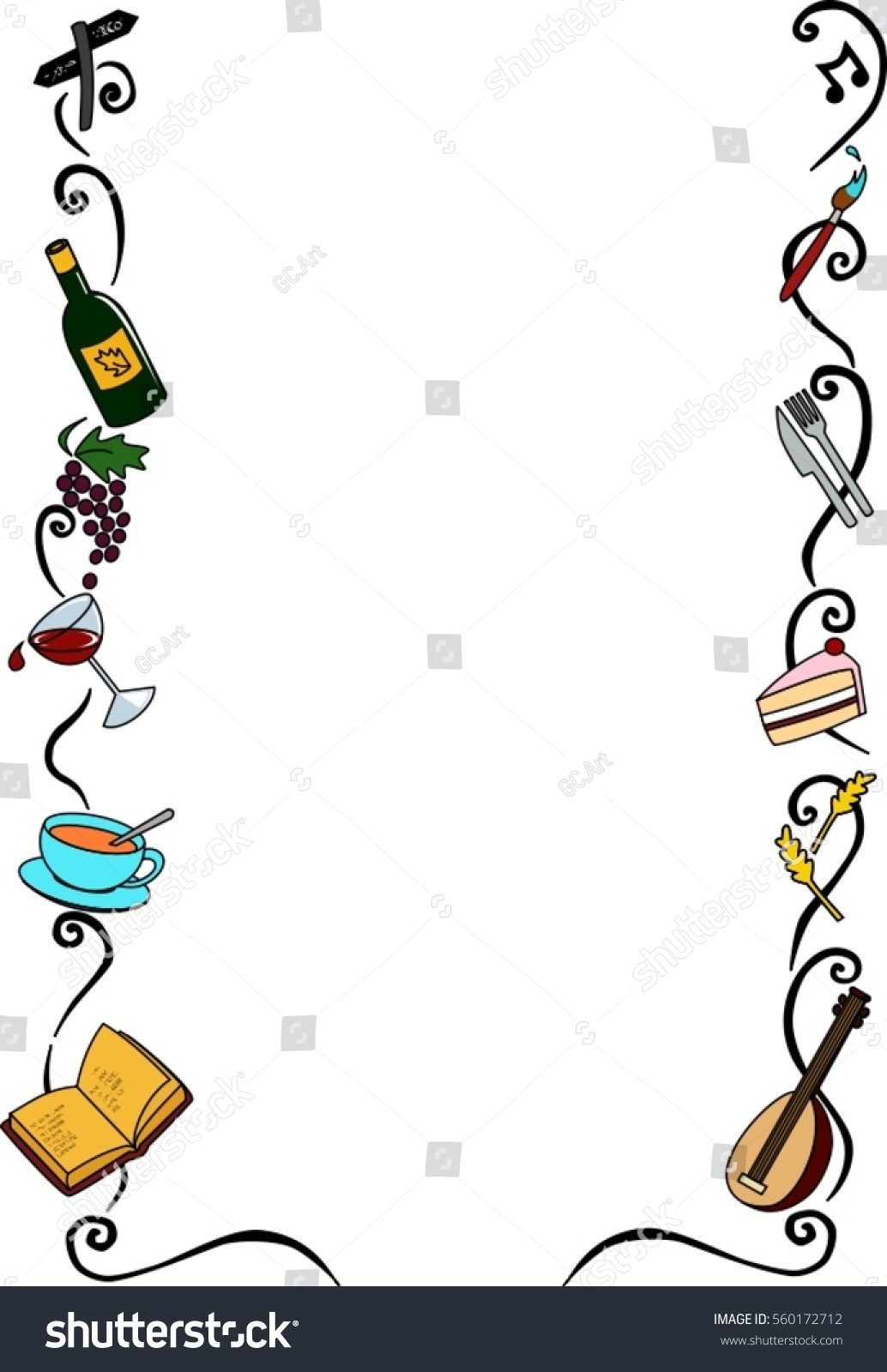 Decorative Border Ideal Arts Craft Center Stock Vector Royalty Free