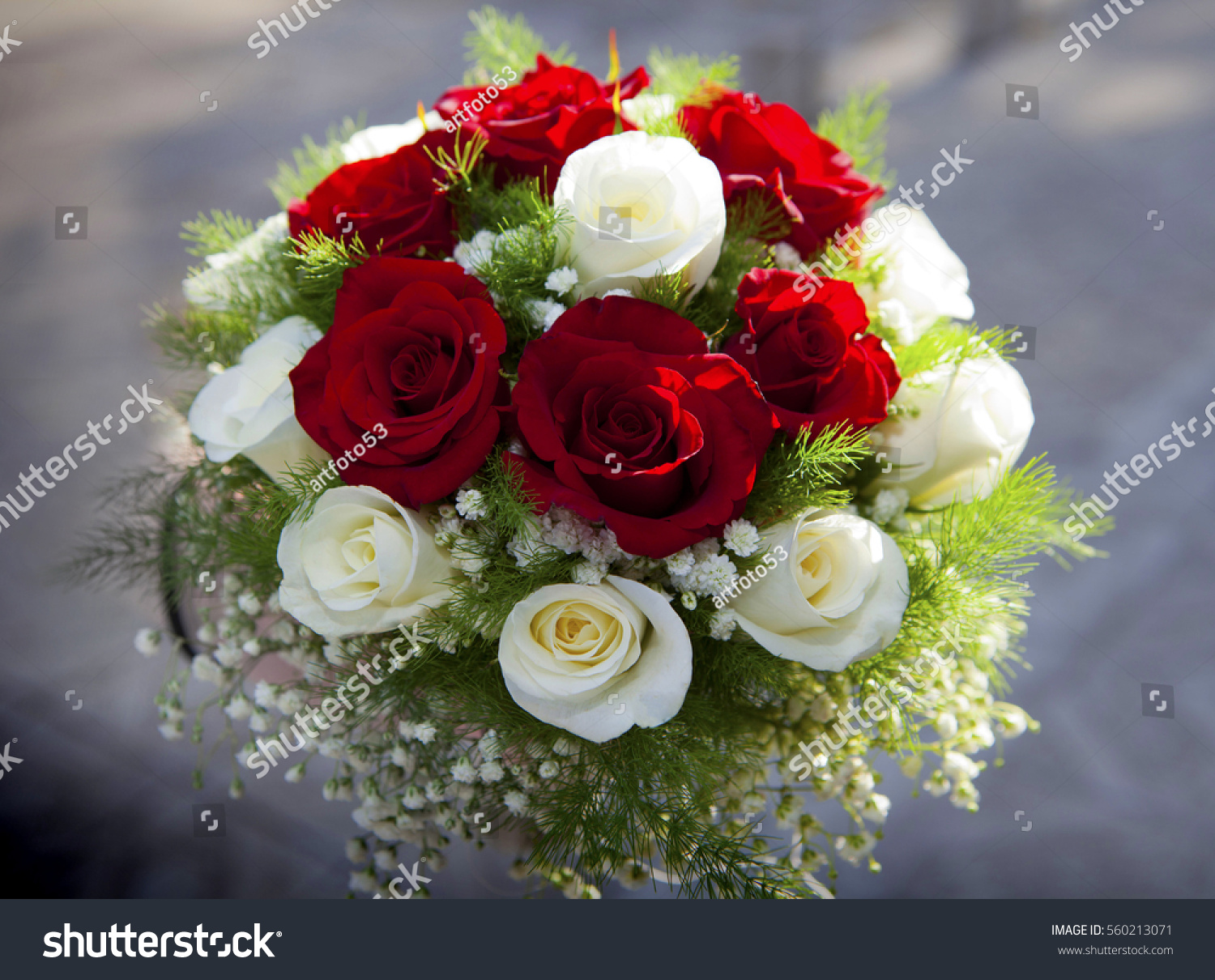 Beautiful Wedding Bouquet Made Different Color Stock Photo (Royalty ...
