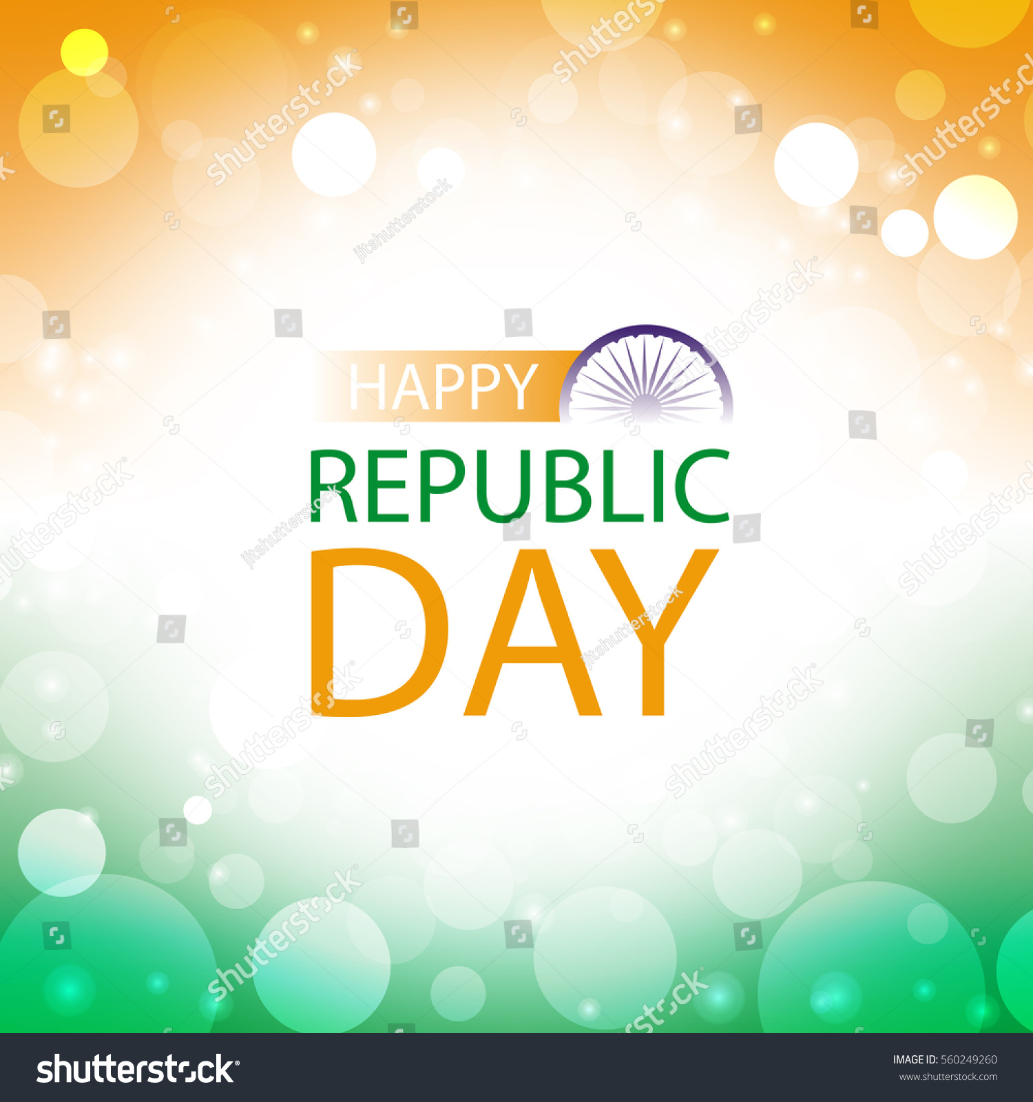 Happy republic day india greeting card stock vector 560249260 happy republic day india greeting card with abstract color of flag background m4hsunfo