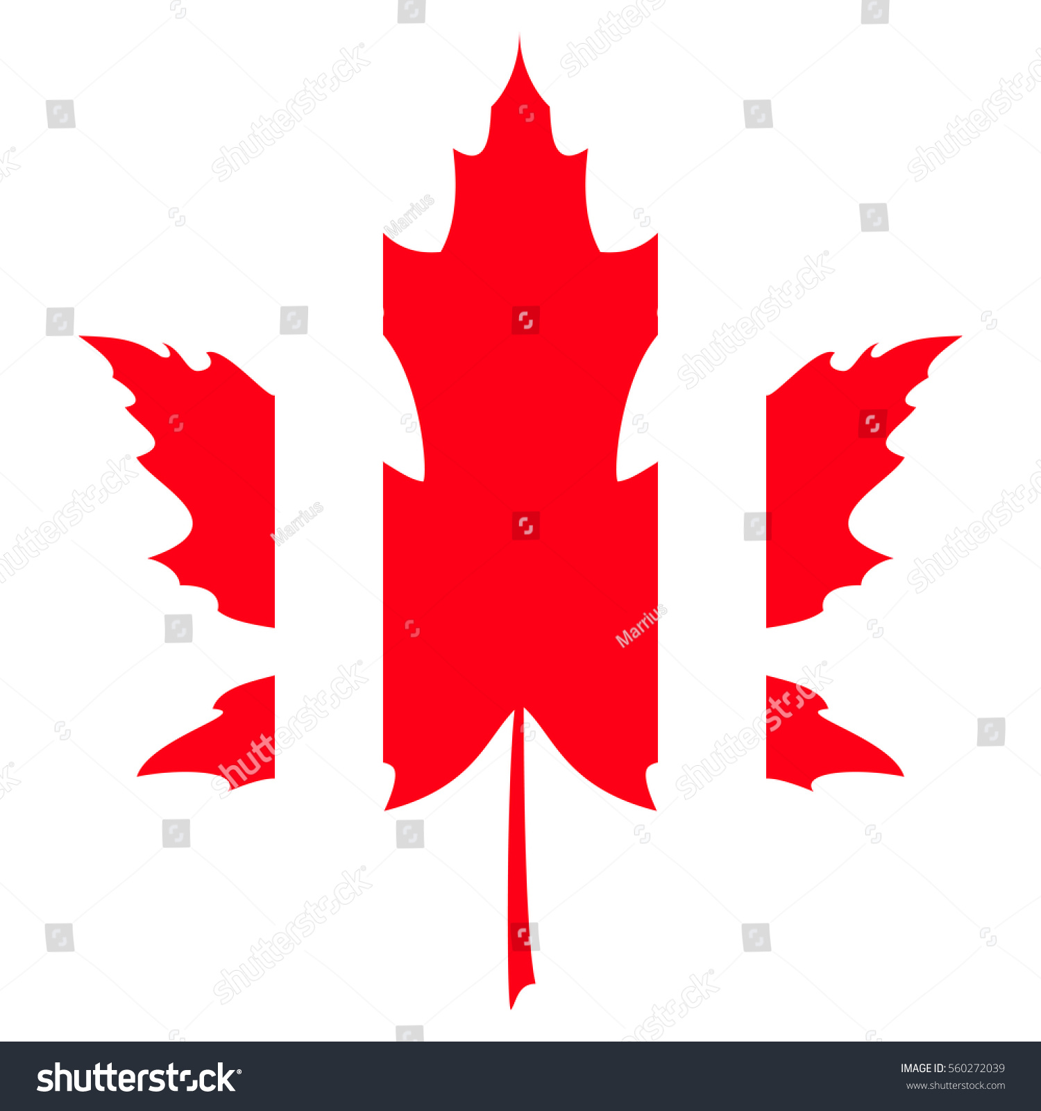 Abstract Canada Flag Maple Leaf Vector Stock Vector