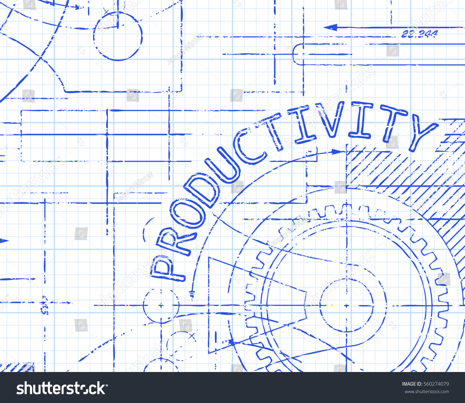 Productivity word on graph paper machine stock vector hd royalty productivity word on graph paper machine background illustration ccuart
