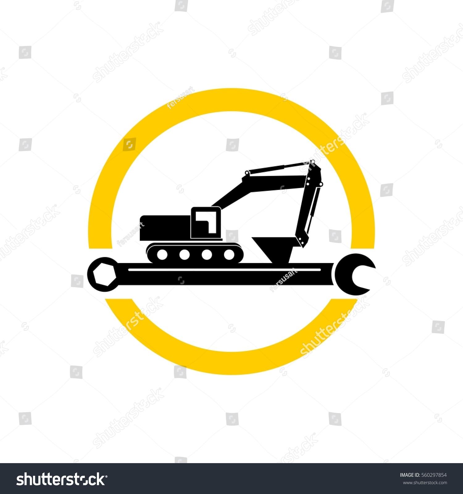 Excavator Service Logo Vector Stock Vector (Royalty Free) 560297854