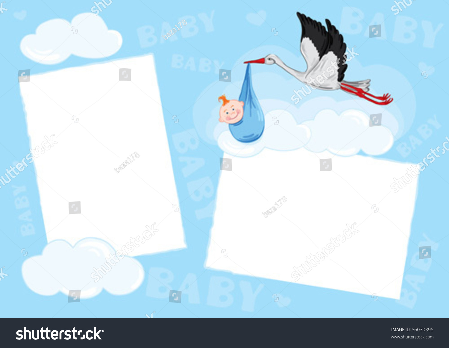 Template Photo Frame Baby Boy Stock Vector 56030395 ...