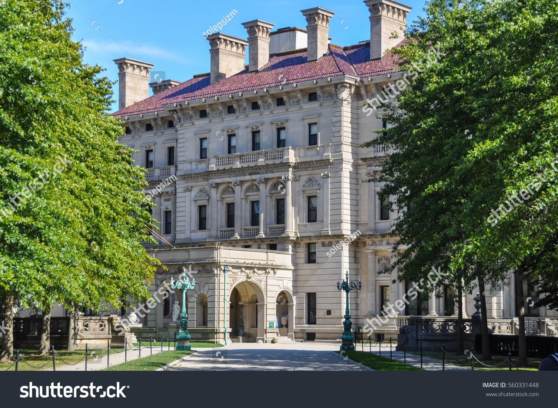 newport usa circa 2010 breakers mansion stock photo