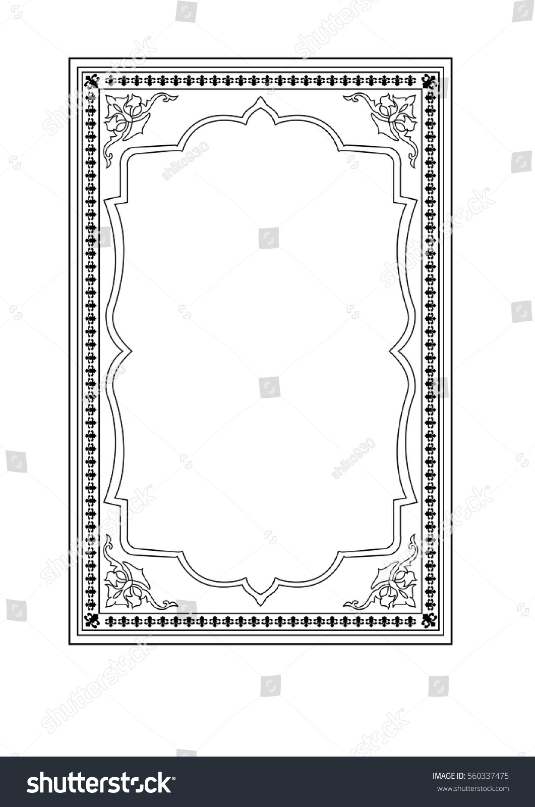 Book Cover Design Hd ~ Islamic book cover stock vector royalty free