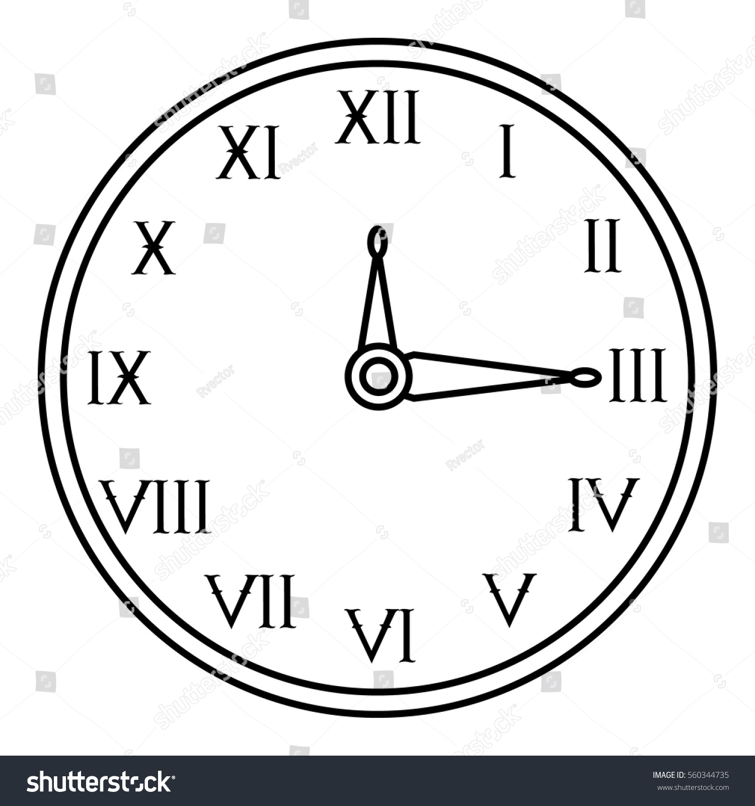 Wall clock icon outline illustration wall stock vector 560344735 wall clock icon outline illustration of wall clock vector icon for web amipublicfo Image collections