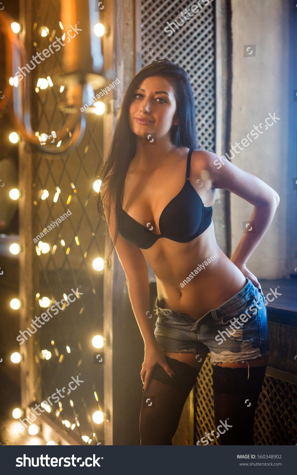 Beautiful Young Girl Lingerie Stock Photo 560348902