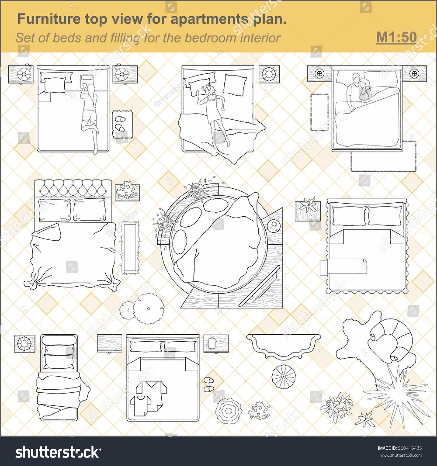 Bedroom Blueprint Symbols