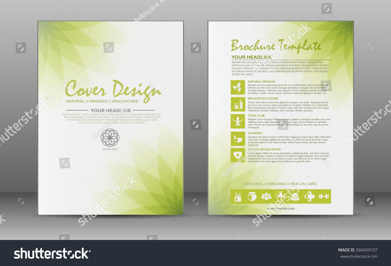 Minimalistic Spa Healthcare Design Brochure Flyer Stock Photo (Photo ...