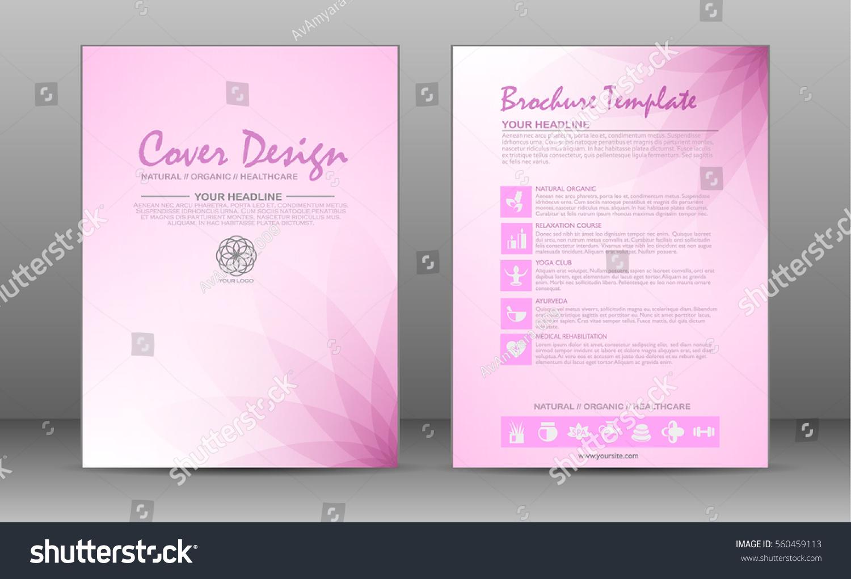 Minimalistic Spa Healthcare Design Brochure Flyer Stock Vector