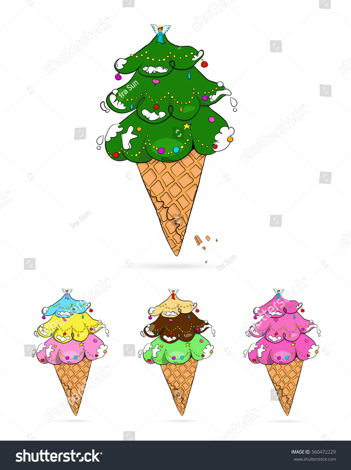 Vector Illustration Christmas Tree That Have Stock Vector (Royalty ...