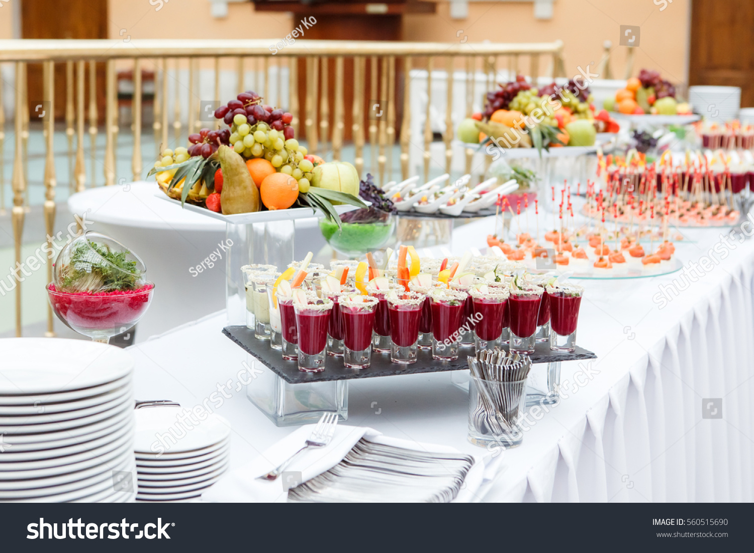 Catering canape fruits zdj cie stockowe 560515690 for Canape reception
