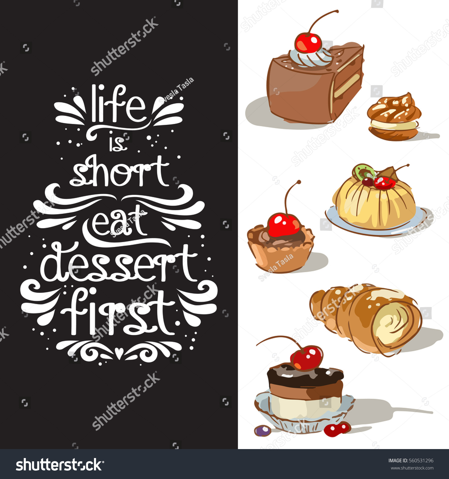 life is short eat dessert first quote best life quotes in hd images