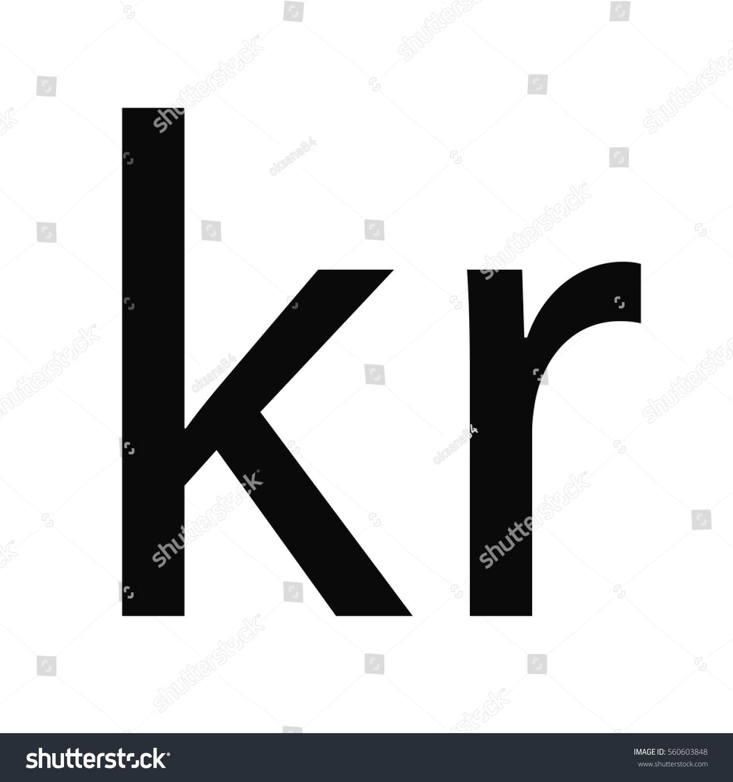 Symbol Money Sign Norwegian Krone Icon Stock Vector Royalty Free