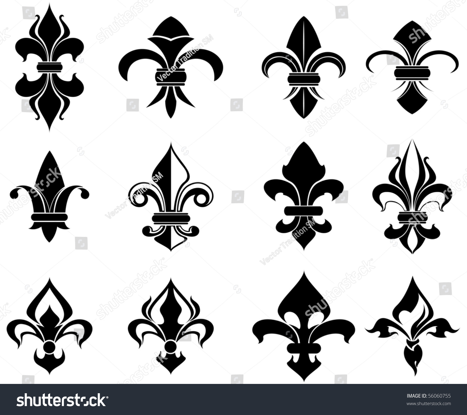 Royalty free royal french lily symbols also as 56060755 stock royal french lily symbols also as emblem or logo template vector version also available biocorpaavc Gallery