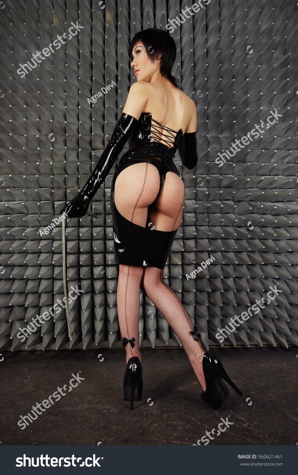 BDSM Fetish Black Latex Rubber Mistress