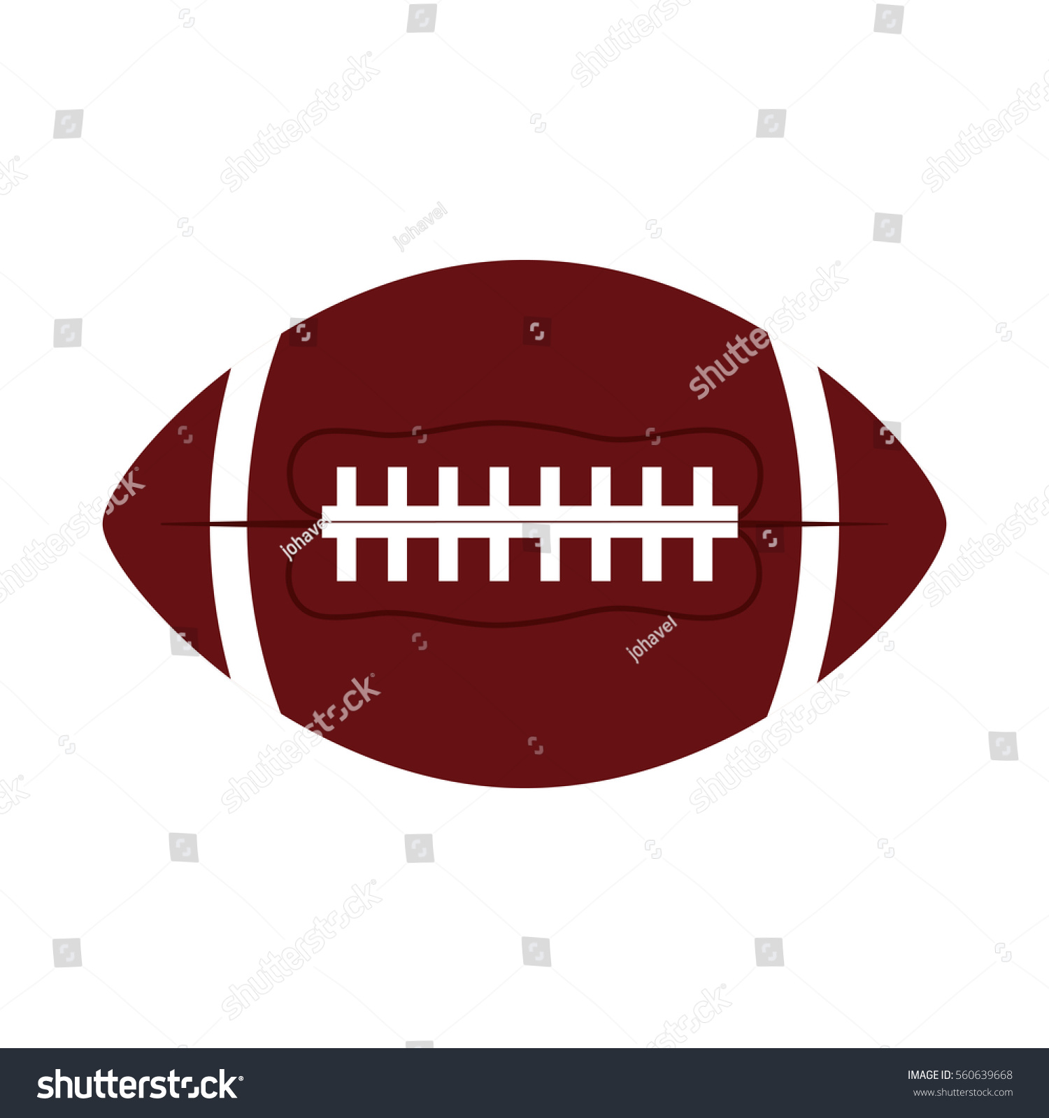 Stokovaya Vektornaya Grafika Ball American Football Oval Icon Vector