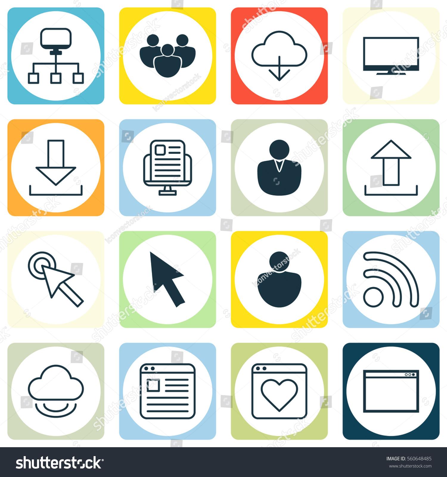 Set 16 World Wide Web Icons Stock Illustration 560648485 Shutterstock