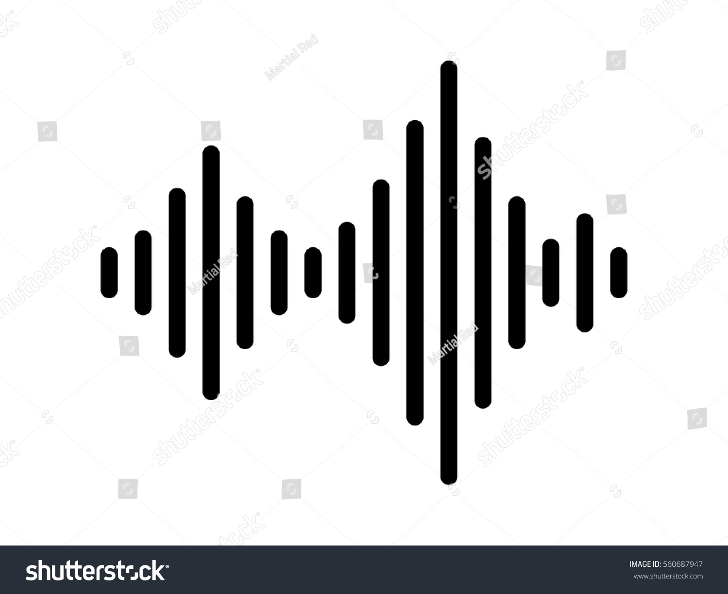 Acoustic Sound Waves : Sound audio wave soundwave line art stock vector