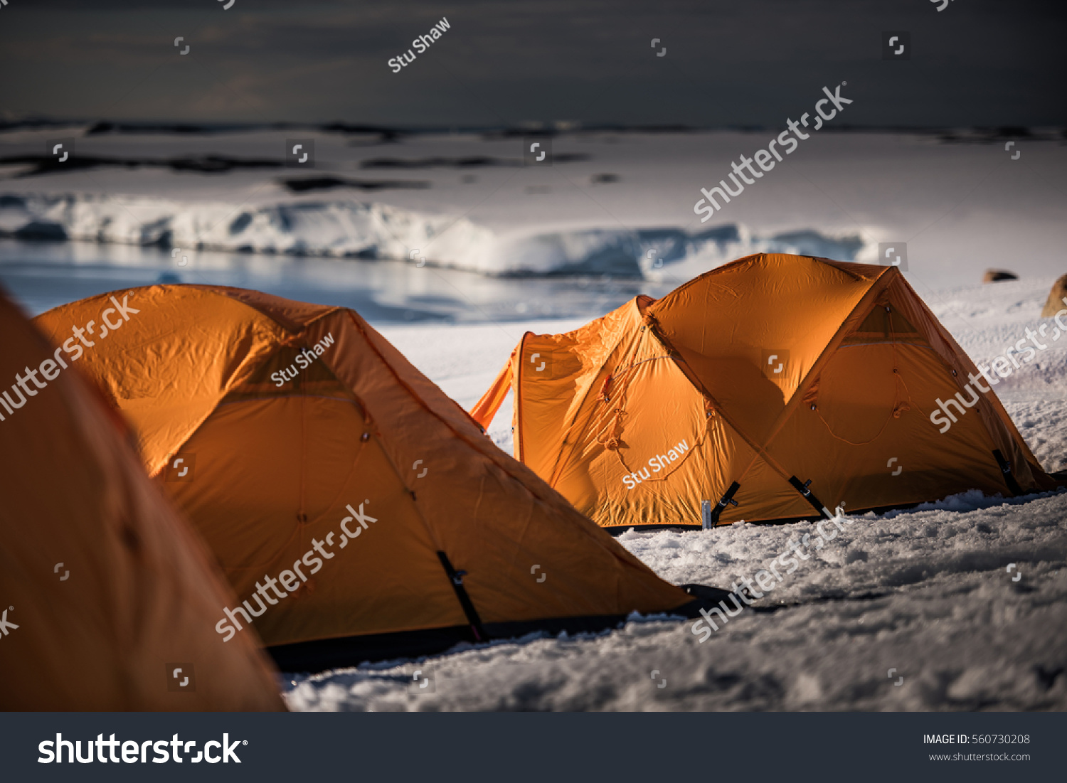 Polar Tents on an Antarctic Expedition & Polar Tents On Antarctic Expedition Stock Photo 560730208 ...