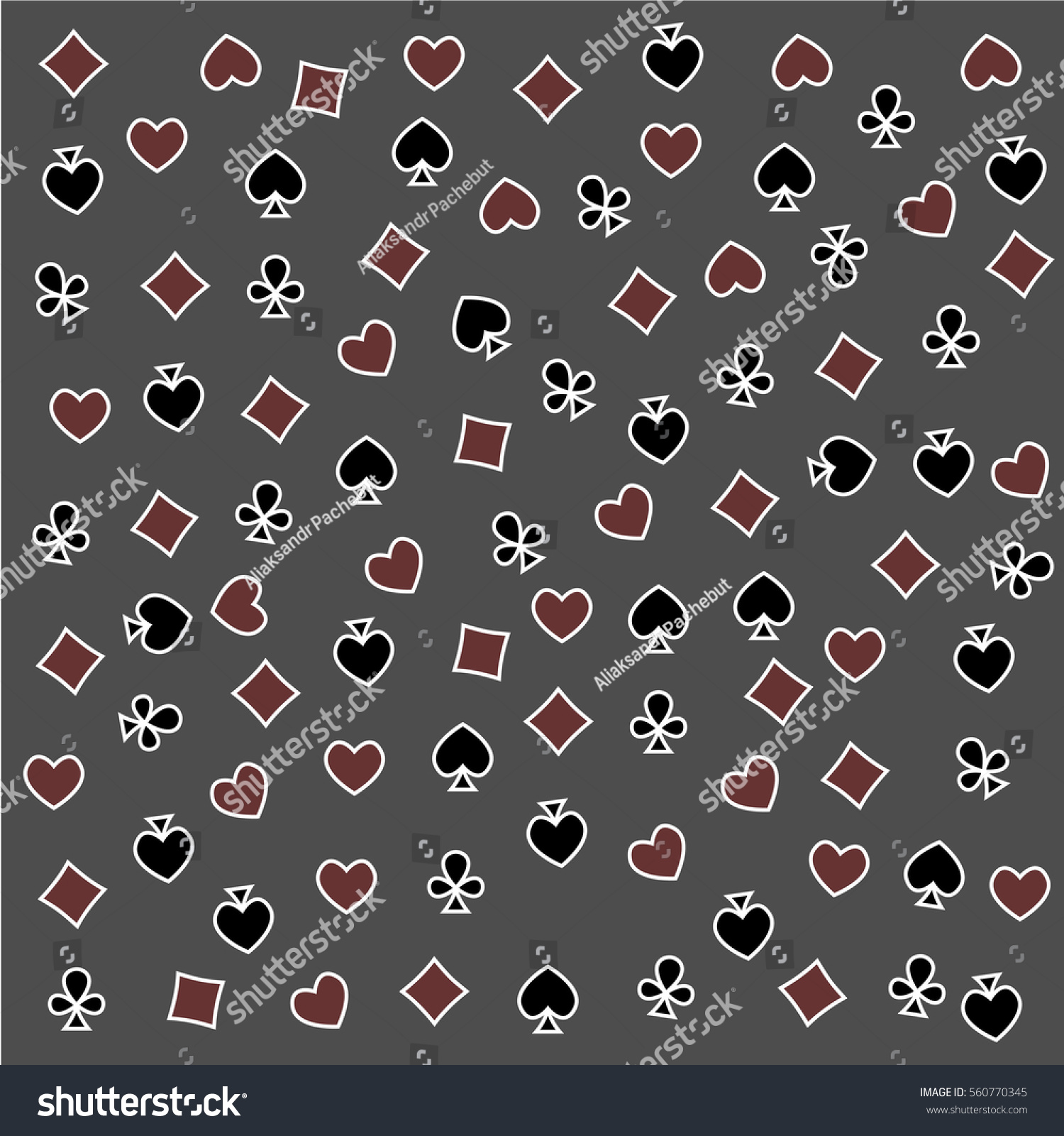 Seamless pattern made out casino symbols stock vector 560770345 the seamless pattern made out of casino symbols heart diamond spade and clubs biocorpaavc Gallery