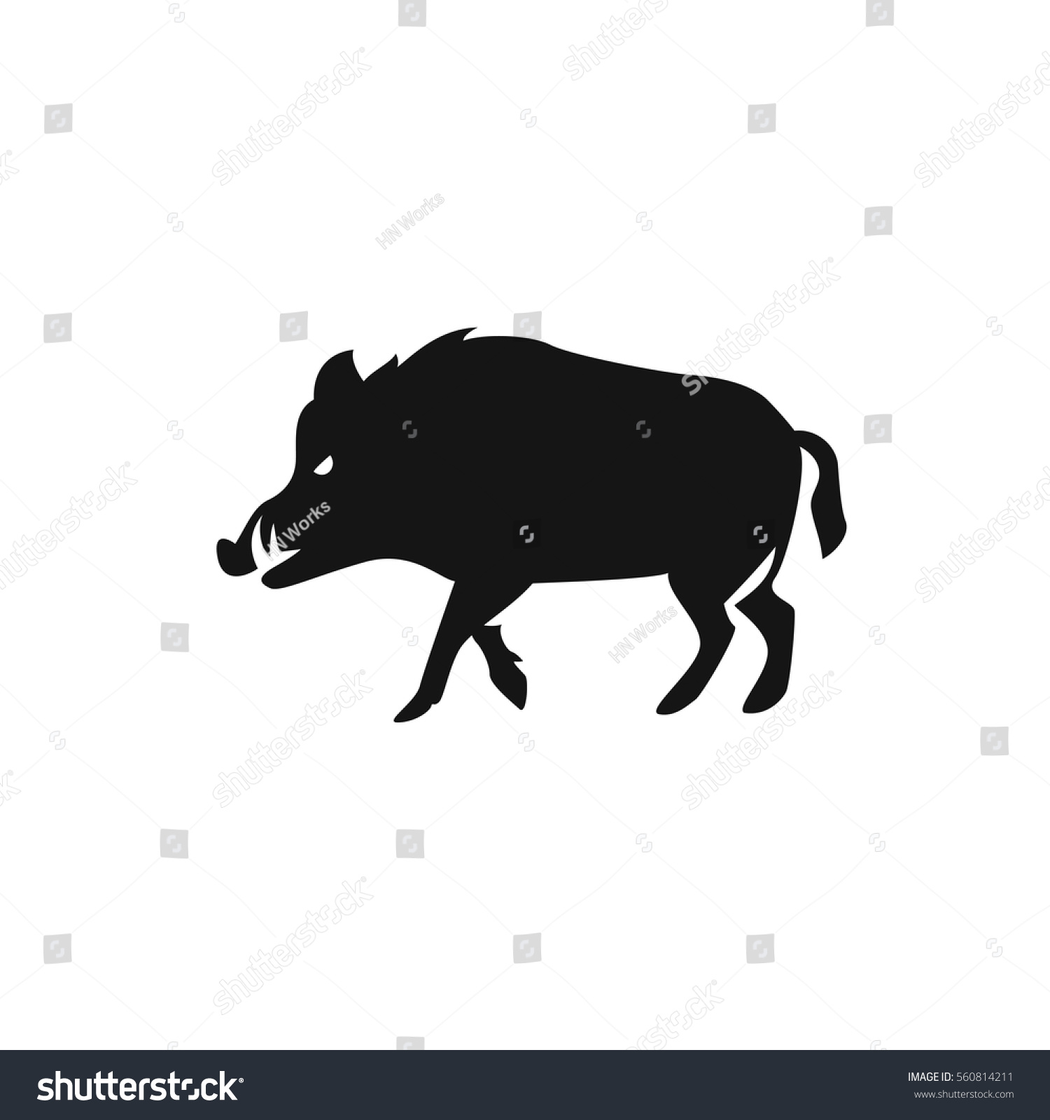 Hog Icon Illustration Isolated Vector Sign Stock Vector 560814211