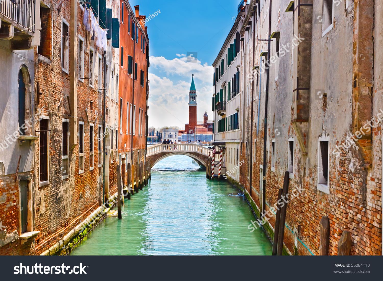 Обои для рабочего стола улочки венеции