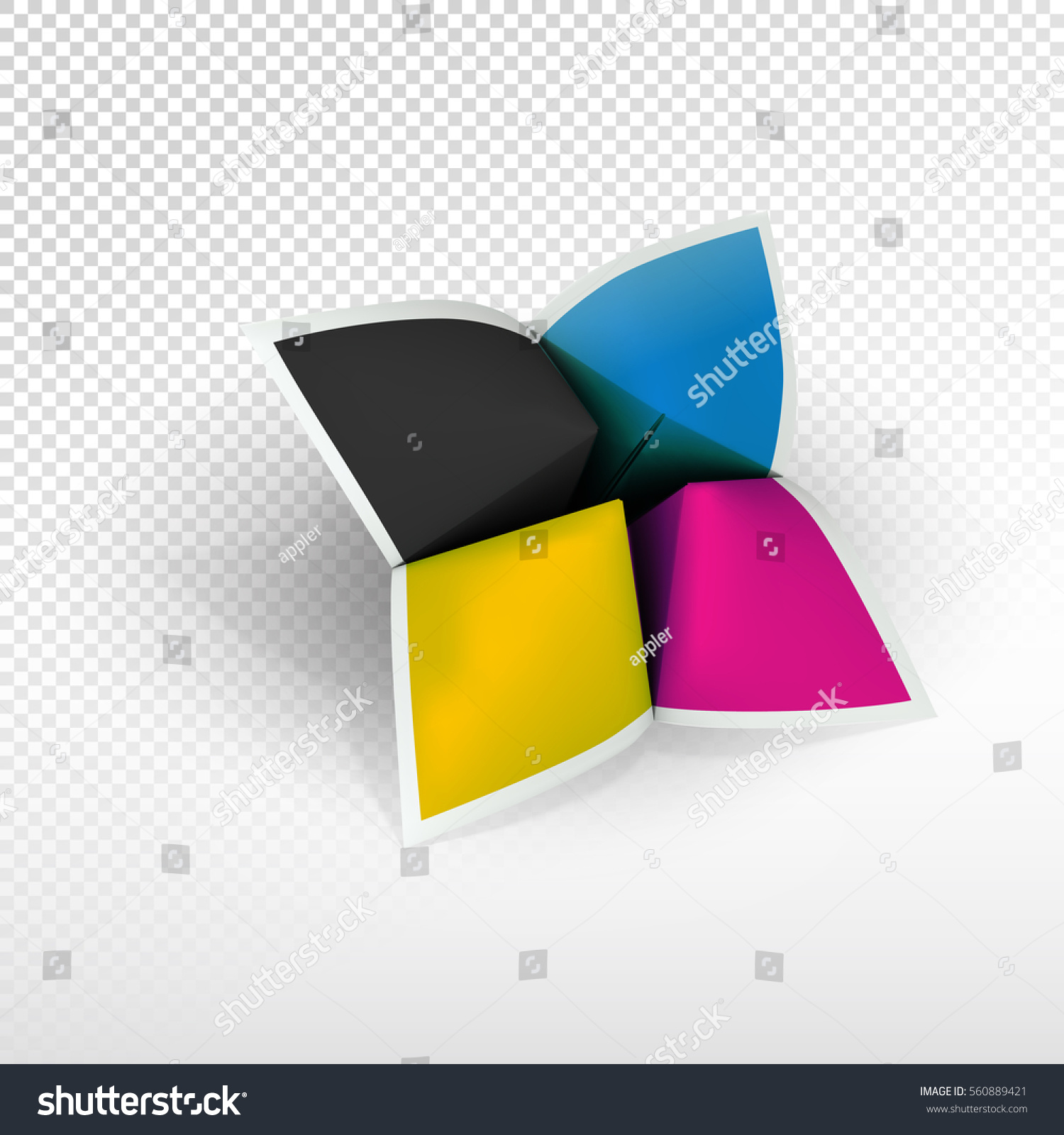 Design Teller fortune teller cmyk colors poligraphy emblem stock vector 560889421