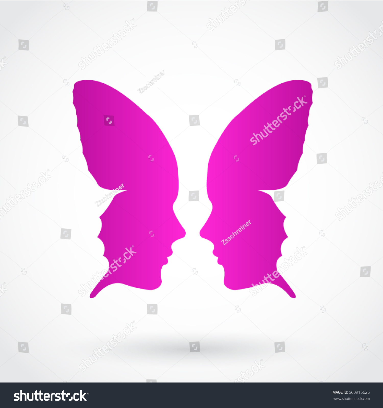 Stylized butterfly face pink purple symbol stock vector 560915626 stylized butterfly face pink purple symbol biocorpaavc Images