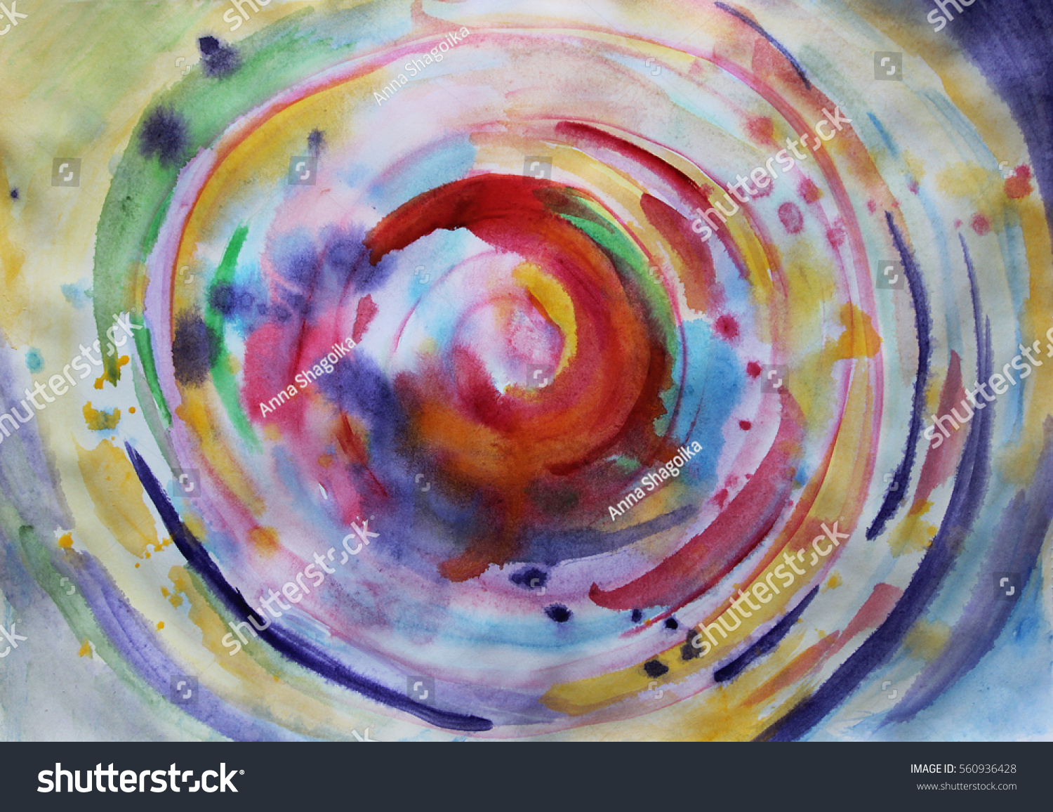 Circle abstract colorful background creative colorful for Creative abstract painting
