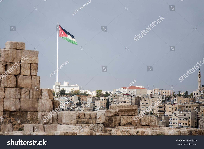 stock-photo-jordan-flag-in-amman-in-the-