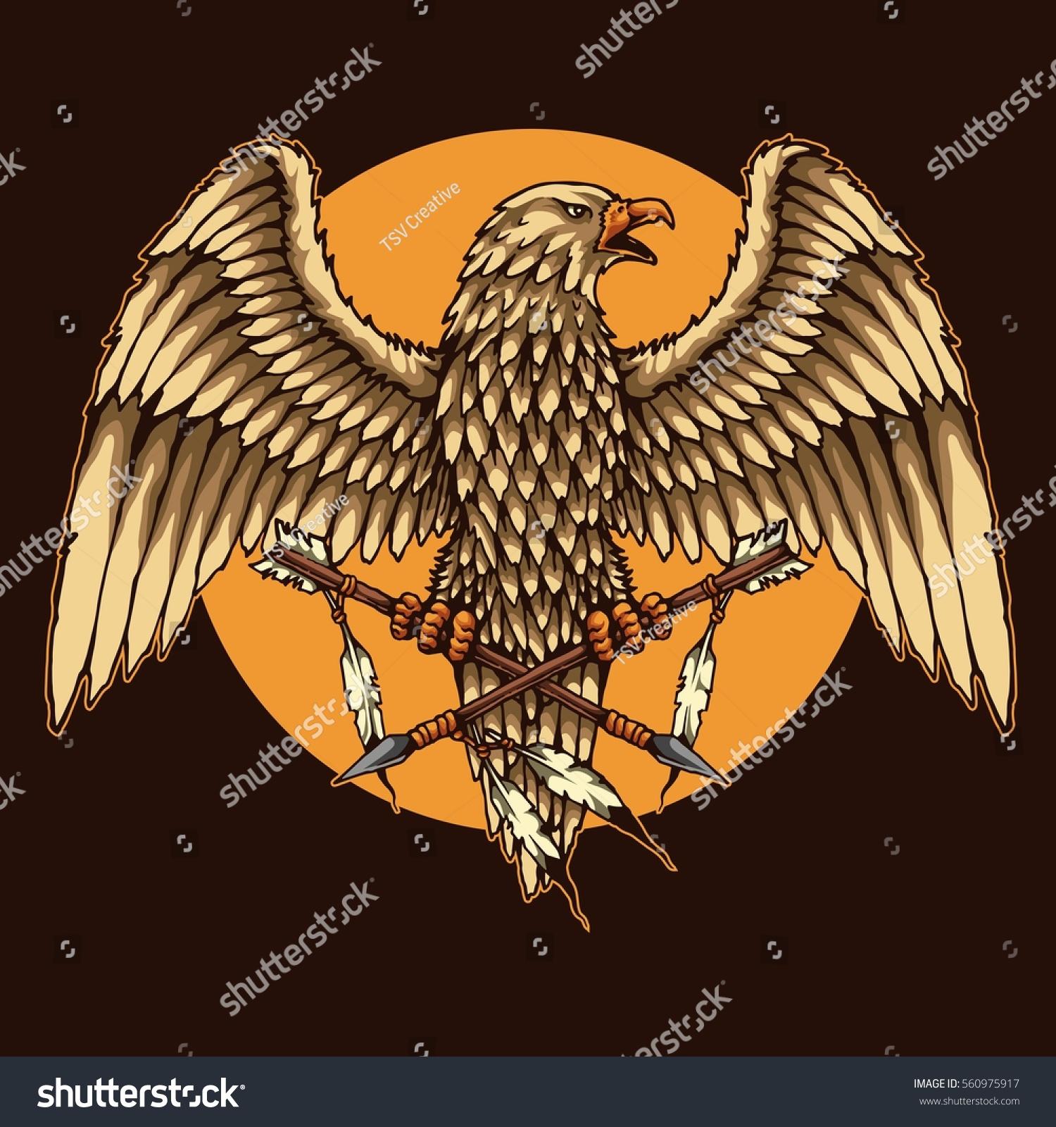 Vector illustration native america eagle stock vector 560975917 vector illustration of native america eagle biocorpaavc Gallery