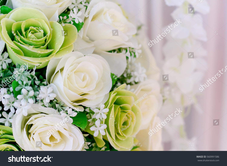 Bouquet White Flowers Wedding Stock Photo (Royalty Free) 560991586 ...